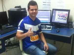 Rodrigo Oliveira, editor de imagens da Inter TV Vales (Foto: Diego Souza/G1 Vales)