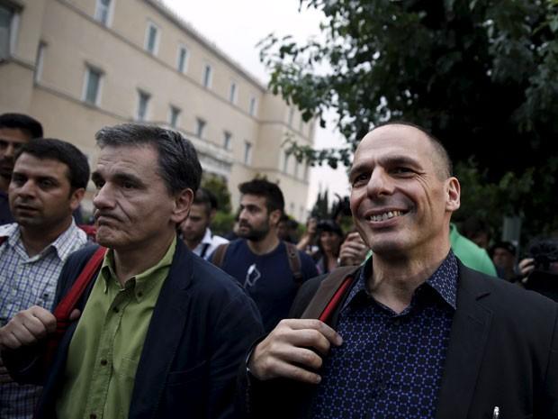 Varoufakis foi a figura mais controvertida no exterior, e nas reuniões do Eurogrupo muitos ministros se queixavam - mais ou menos abertamente - que era difícil colaborar com o titular grego. (Foto: Reuters)