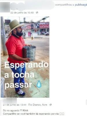 Mensagem compartilhada por jovem preso em Maracaju (MS) há 4 dias (Foto: Reprodução/Facebook)