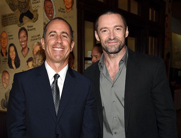 Jerry Seinfeld e Hugh Jackman (Foto: Getty Images)