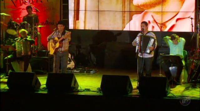 Dupla Paulo Freire e Luciano, do Tocantins, venceu a competição  (Foto: Reprodução EPTV)