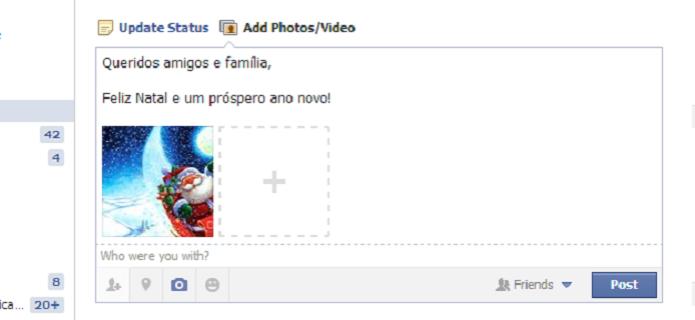 Natal facebook (Foto: Reprodução/TechTudo)