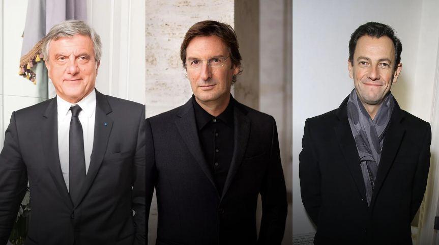 Sidney Toledano, Pietro Beccari e Pierre-Yves Roussel (Foto: Getty Images)