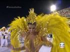 União da Ilha canta o Rio olímpico com sol de LED e cadeirante acrobata