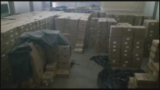 Galpão de cigarros contrabandeados é descoberto, diz PRF; 5 são presos