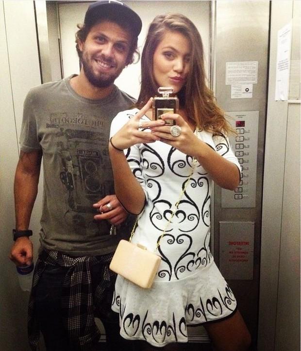 Pâmela Tomé com o namorado, Eduardo Pimenta (Foto: Reprodução/Instagram)