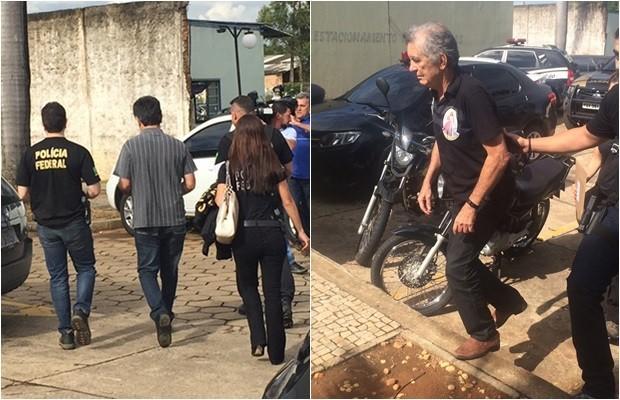 Dois policiais federais foram presos suspeitos de mandar bomba para advogado, em Goiânia, Goiás (Foto: Murillo Velasco/G1)