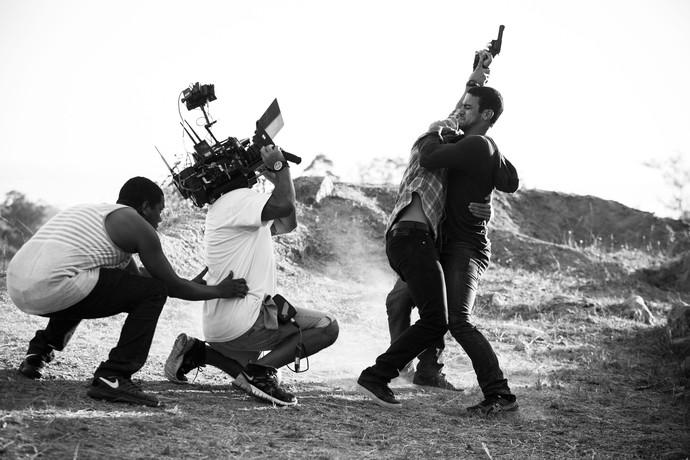 Briga de Jonatas e Jacaré exigiu muito de equipe elenco (Foto: Raphael Dias / Gshow)