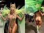 Quase nua! Juju Salimeni usa body que simula tapa-sexo na Avenida