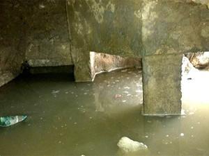 'Caverna' foi escavada sob o piso de um dos pavilhões da Cadeia Pública de Nova Cruz, na região Agreste potiguar (Foto: G1)