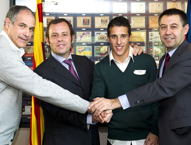 Cristian Tello, do Barcelona (Foto: Reprodução / Site Oficial do Barcelona)