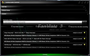 Favista Audio Converter, converter áudio