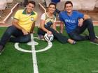 Time do Encontro! Fátima recebe Belo e irmão do jogador Daniel Alves; Fotos!