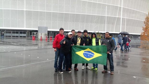 Jogadores do RN matam saudades do Brasil em amistoso na Polônia (Foto: Arquivo Pessoal)
