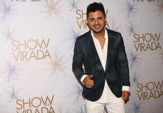 Cristiano Araújo na gravação do Show da Virada em São Paulo (Foto: Iwi Onodera/ EGO)