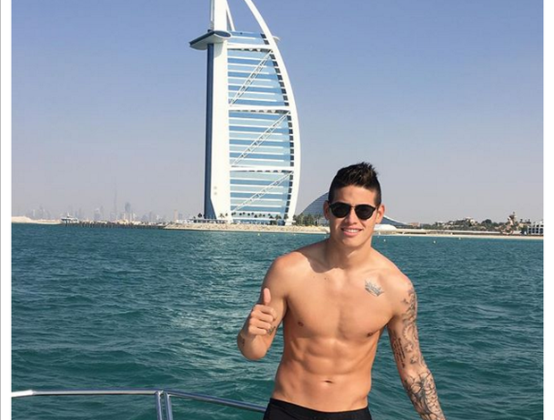 James Rodríguez férias Dubai