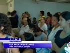 Superlotado, espera por exames em laboratório tem fila em São José