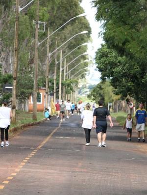 Parque do Sabiá, pista de caminhada e corrida (Foto: Daniel Nunes)