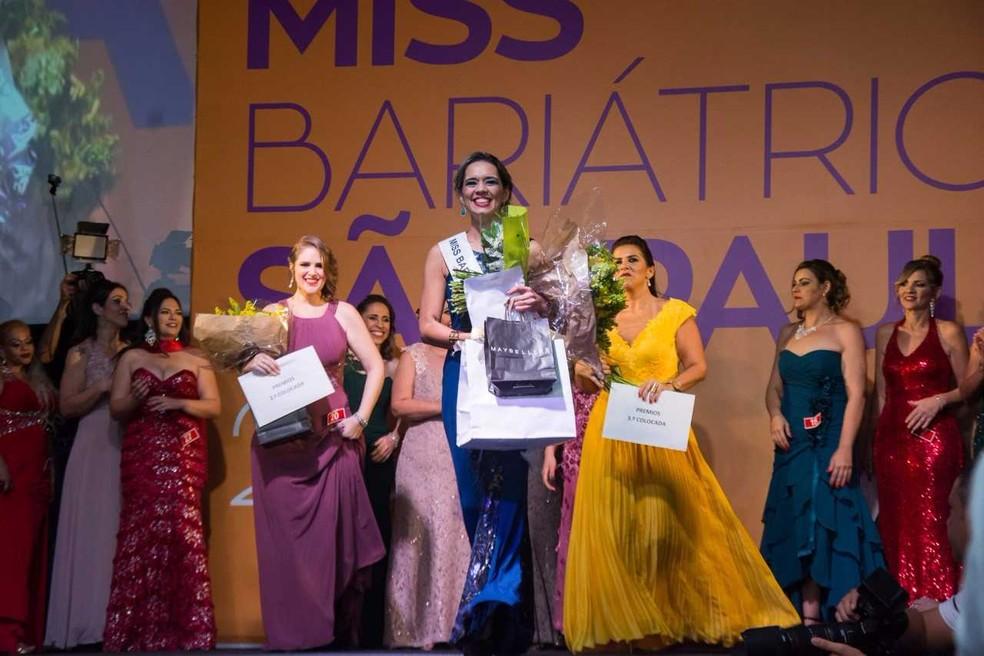 Sabrina foi eleita Miss Bariátrica (Foto: Divulgação/Miss Bariátrica São Paulo)