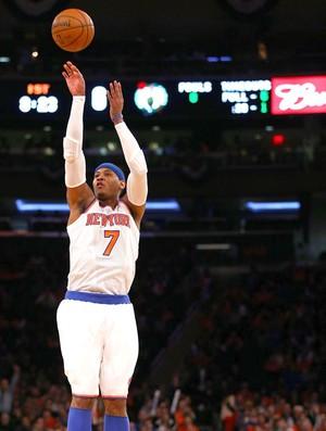 Carmelo Anthony NBA jogo Nova York Boston (Foto: Getty Images)