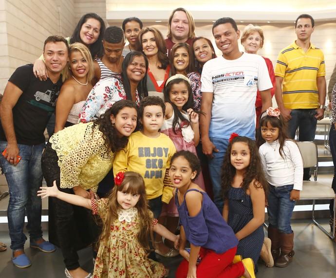 Plateia reunida para o momento da foto com Fátima (Foto: Fábio Rocha/Gshow)