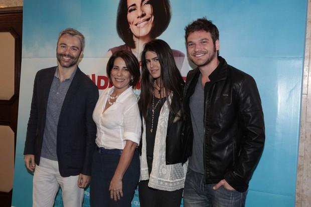 Ângelo Paes Leme, Glória Pires, Antonia Morais e Emílio Dantas (Foto: Isac Luz / EGO)