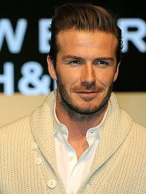 Beckham durante desfile de lançamento de perfume (Foto: Reuters)