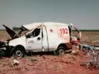 Acidente com ambulância deixa um morto e três feridos em Planura, MG