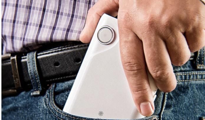 Projetor cabe no bolso (Foto: Reprodução/Indiegogo)