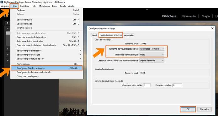 Otimize o preview para as configurações do seu monitor (Foto: Reprodução/Barbara Mannara)