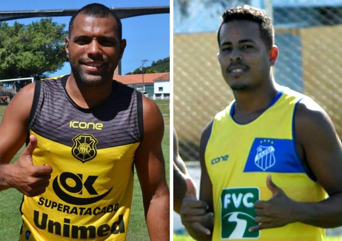 Rio Branco-ES, de Márcio Carioca e o São Mateus, de Bombom, se enfrentam com transmissão ao vivo na TV Gazeta (Foto: Montagem/GE)
