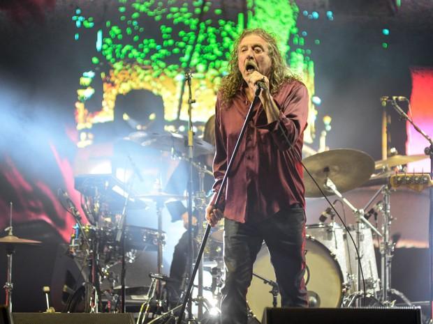 Robert Plant canta no palco principal do Lollapalooza (Foto: Marcelo Brandt/G1)