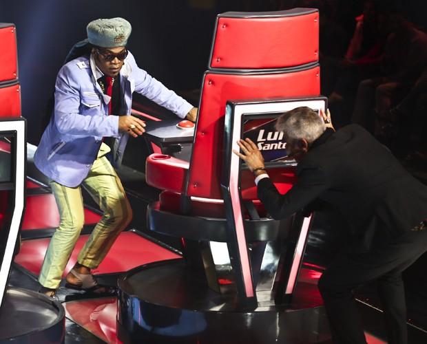 Brown e Lulu brincam no terceiro dia de audições (Foto: Foto: Isabella Pinheiro/TV Globo)