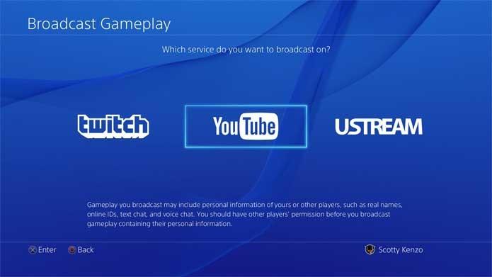YouTube suporta transmissões ao vivo do PS4 (Foto: Divulgação/Sony)