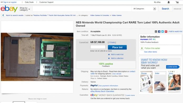 Cartucho raro de NES foi colocado a venda no eBay (Foto: Reprodução/ Ebay)