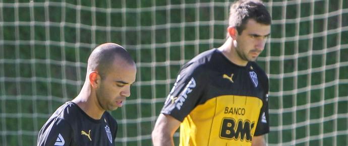 Diego Tardelli e Lucas Pratto, atacantes do Atlético-MG (Foto: Bruno Cantini/CAM)