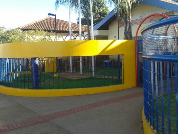 Guarda municipal é agredido por aluno em escola de Campo Grande (Foto: Osvaldo Nóbrega/ TV Morena)