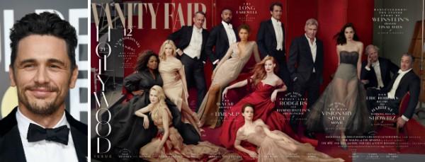 A capa da revista Vanity Fair sem a presença de James Franco (Foto: Getty Images/Divulgação)