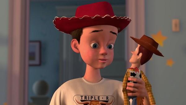 Os personagens Andy e Woody em Toy Story (Foto: Reprodução)