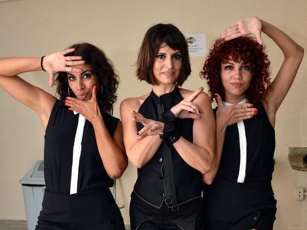 Alegria Mattus,  Fernanda Abreu  e Victória Devin em show no Rio (Foto: Cristina Granato/ Divulgação Fernanda Abreu)