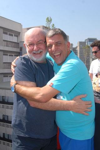 Autor e diretor repetem a parceria (Foto: Zé Paulo Cardeal/ TV Globo)