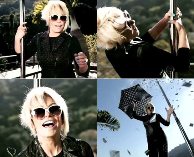 Ana Maria se diverte no clipe da cantora Ana Carolina (Foto: Mais Você / GShow)