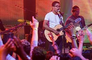 Show do Natiruts durante a participação da banda em Malhação (Foto: Inácio Moraes/Gshow)