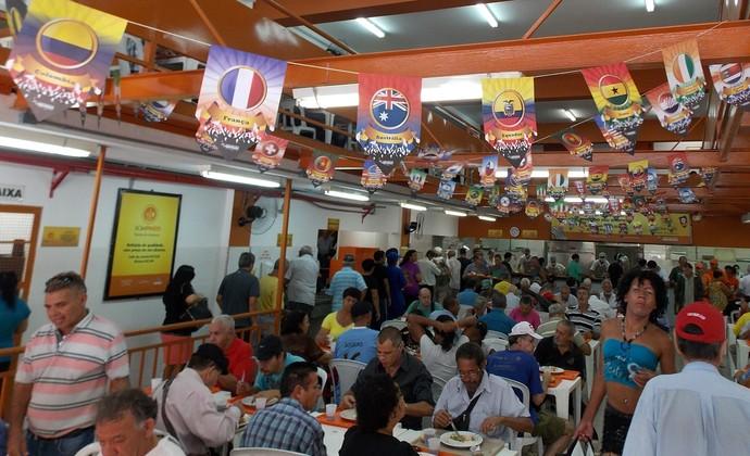 Restaurante Bom Prato São José Copa do Mundo (Foto: Thiago Fadini/ GloboEsporte.com)