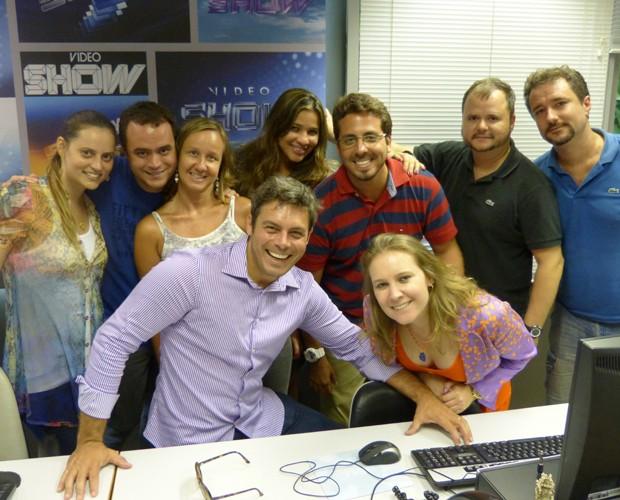 Luigi Baricelli visita amigos na produção do Vídeo Show (Foto: Vídeo Show/TV Globo)