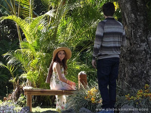 Martin dá de cara com Flaviana e fica decepcionado! (Foto: Malhação / TV Globo)