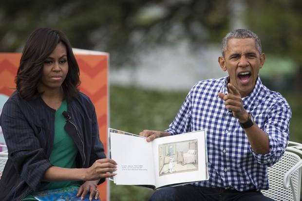 Michelle e Barack Obama: paixão pelos livros (Foto: getty images)
