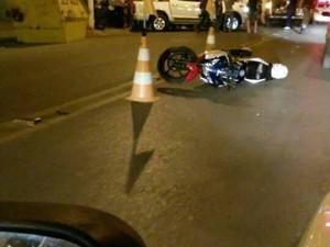 Acidente com motociclista em Lagoa da Prata (Foto: Túlio Fleury/Arquivo Pessoal)