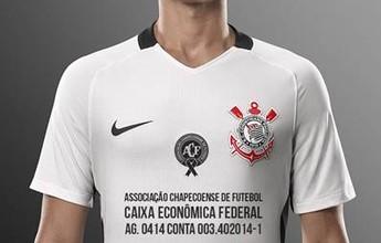 Camisa do Corinthians terá a conta da Chape no espaço master; veja imagem