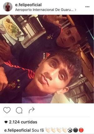 Everton Felipe Diego Souza Sport (Foto: Reprodução Instagram)
